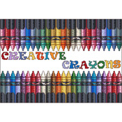 Creative Crayons Counted Cross Stitch Kit
