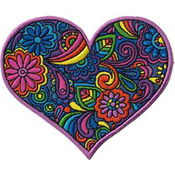 """Paisley Heart 3.75""""X3"""" - C&D Visionary Patch"""