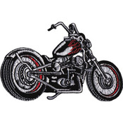"""Black Chopper Motorcycle 4""""X2.75"""" - C&D Visionary Patch"""