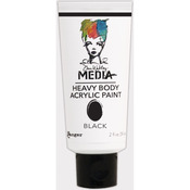 Dina Wakley Media Heavy Body 2oz Acrylic Paints - Black