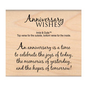 Anniversary Wishes - My Sentiments Exactly Mounted Stamp