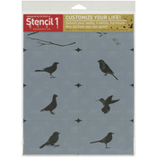 Bird Theme - Stencil1 Set 8/Pkg