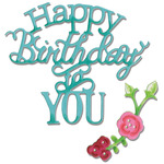 Sizzix Thinlits Dies 3/Pkg - Happy Birthday To You