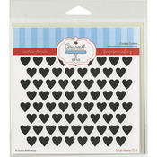 """Small Hearts - Gourmet Rubber Stamps Stencil 6""""X6"""""""