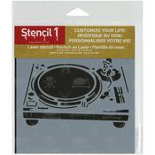 "Turntable - Stencil1 6""X6"" Stencil"