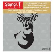 """Stencil1 6""""X6"""" Stencil - Antlered Deer"""