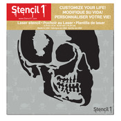 """Skull Profile - Stencil1 6""""X6"""" Stencil"""