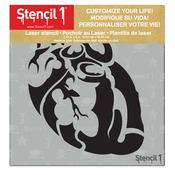 "Heart - Stencil1 6""X6"" Stencil"
