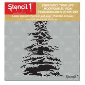 "Stencil1 6""X6"" Stencil - Snowy Pine"
