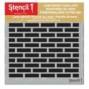 "Bricks - Stencil1 6""X6"" Stencil"