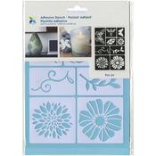 "Flowers & Bugs - Momenta Adhesive Stencil 6""X8"""
