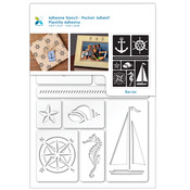 "Nautical - Momenta Adhesive Stencil 6""X8"""