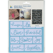 "Beautiful Words - Momenta Adhesive Stencil 6""X8"""