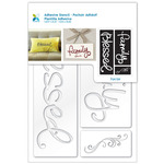 """Momenta Adhesive Stencil 6""""X8""""-Blessed"""