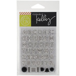 "Outline Letters - Kelly Purkey Clear Stamps 3""X4"" Sheet"