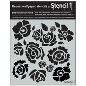 "Stencil1 11""X11"" Stencil - Bouquet"
