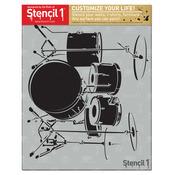 """Drumset - Stencil1 8.5""""X11"""" Stencil"""