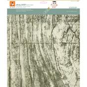 "Rustic White Birch - BARC Wood Sheet W/Adhesive Backing 12""X12"""