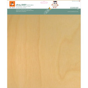 "White Birch - BARC Wood Sheet W/Adhesive Backing 12""X12"""
