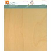 "White Birch - BARC Wood Sheet W/Adhesive Backing 12""X12"""