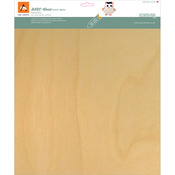 "White Birch - BARC Wood Sheet W/Paper Backing 12""X12"""