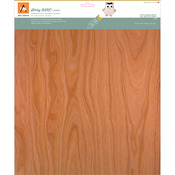 "Cherry - BARC Wood Sheet W/Adhesive Backing 12""X12"""