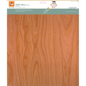 "Cherry - BARC Wood Sheet W/Paper Backing 12""X12"""