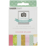 Colour Splash 3 x 4 Double - Sided Cards - Captured Moments - KaiserCraft