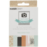 Necessities Captured Moments Double - Sided 3 x 4 Cards - KaiserCraft