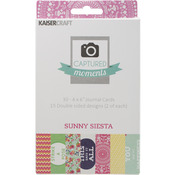 """Captured Moments Double - Sided Cards 6""""X4"""" 30/Pkg - Sunny Siesta"""