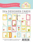 Hello Summer 3 x 4 Journal Cards - Echo Park