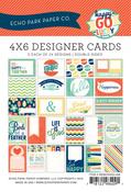 Happy - Go - Lucky 4 x 6 Journal Cards - Echo Park