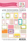 Little Girl 4 x 6 Journal Cards - Echo Park