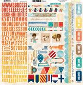 Boardwalk Comb Stickers - Bo Bunny