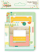 Summer Vibes Chipboard Frames - Simple Stories