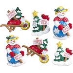"Snow Garden Ornaments Felt Applique Kit-4""X5"" Set Of 6"