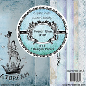 "French Blue - My Besties 8""X8"" Single Sided Paper 8 Sheets/Pkg"