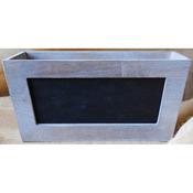 "Mix The Media Wooden Chalkboard Planter 11""X6""X5""-"