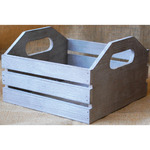 "Mix The Media Wooden Crate W/Handles 7""X7""X4.5""-"