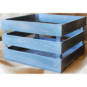 "Mix The Media Weathered Wooden Crate 10.5""x9.75""x6.75""-"