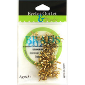 Gold - Eyelet Outlet Round Brads 4mm 70/Pkg