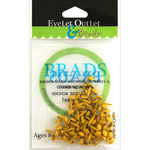 Yellow - Eyelet Outlet Round Brads 4mm 70/Pkg