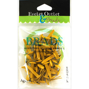 Yellow - Eyelet Outlet Round Brads 8mm 40/Pkg