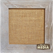 "Mix The Media Weathered Wood Frame W/Burlap 10""X10""-"