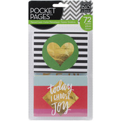 """Big City Brights - Me & My Big Ideas Pocket Pages Themed Cards 3""""X4"""" 72/Pkg"""