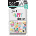 """Me & My Big Ideas Pocket Pages Themed Cards 3""""X4"""" 72/Pkg - Journal Elements"""