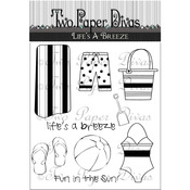 """Life's A Breeze - Two Paper Divas Clear Stamps 7""""X4.5"""""""