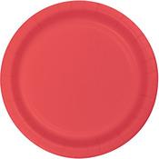 "Coral - Luncheon Plates 7"" 24/Pkg"