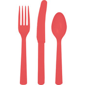 Heavy Duty Cutlery Assortment 24/Pkg - Coral