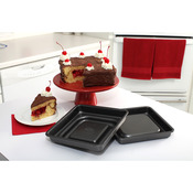 "9""x9""x2.25"" - Mrs. Fields (TM) Fill N Flip Square Cake Pan Set"